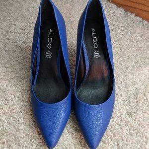 Aldo Electric Blue Textured Heels